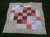 Úžitkový textil - dteská hracia deka sovičková - 4578240_