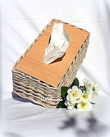 Krabičky - Krabička na vreckovky - 4576833_