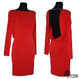 Šaty - Elastické šaty holý chrbát - 4578551_