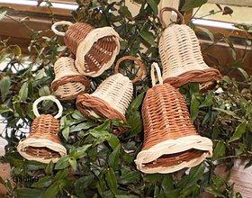 Dekorácie - Zvončeky hnedo- prírodné - 4578605_