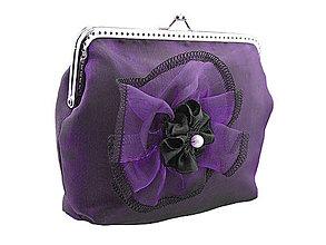 Taštičky - Spoločenská kabelka fialová 12903 - 4581322_