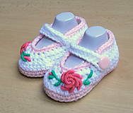 Topánočky - Balerínky s kvetinkou - 4583360_