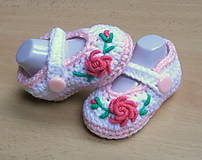Topánočky - Balerínky s kvetinkou - 4583361_