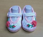 Topánočky - Balerínky s kvetinkou - 4583362_