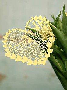 Papiernictvo - Srdce - svadobné oznámenia - 4582668_