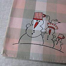 Úžitkový textil - CHLADNÁ RODINKA - napron 70x70 cm - 4583386_