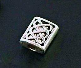 Korálky - kovová korálka starostriebro/10ks - 4583014_