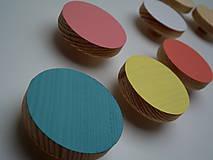 Nábytok - Pastelové vešiaky - okrúhle - 4580818_
