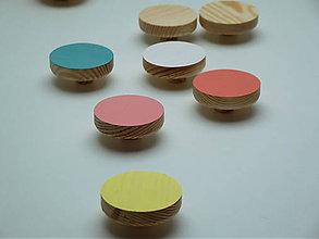 Nábytok - Pastelové vešiaky - okrúhle - 4580815_