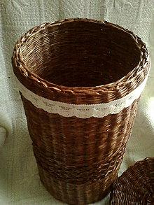 Košíky - Veľký kôš na prádlo (Hnedý kôš) - 4583405_