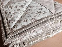 Úžitkový textil - Jemná béžová kvietočková - 4583899_