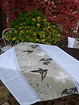 Úžitkový textil - Ľanový obrus Rousseline - 4582415_