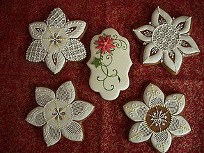 Dekorácie - medovník vianočná hviezda - 4586838_