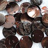 - Placička perleť 15mm-hnedá-1ks - 4586972_