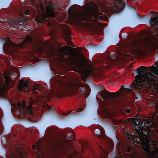 Perleť.kvet 12mm-1ks (červená)