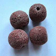 Minerály - Láva 18mm-1ks (červ.hnedá) - 4586859_