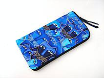 Na mobil - Luxusní Modré čičiny - elegantní obal na telefon - 4586480_
