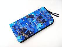 Luxusní Modré čičiny - elegantní obal na telefon