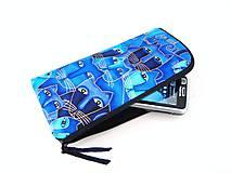 Na mobil - Luxusní Modré čičiny - elegantní obal na telefon - 4586481_