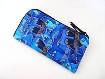 Na mobil - Luxusní Modré čičiny - elegantní obal na telefon - 4586482_