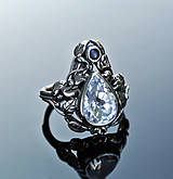 Prstene - Morganite and sapphire ring - 4590759_