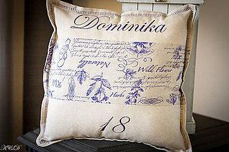 Úžitkový textil - Vankúšik  pre Dominiku :-) - 4588910_