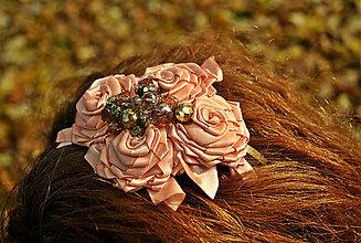 Ozdoby do vlasov - Zlatý kolovrat - 4587249_