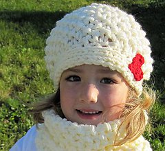 Detské čiapky - srdiečková čiapočka - 4590721_