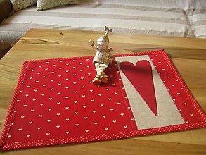 Úžitkový textil - vianočné, červené... - 4590155_