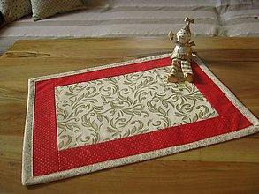 Úžitkový textil - vianočná červeň - 4590209_