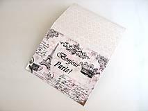 Peňaženky - Červánky v Paříži - peněženka i na karty - 4587125_