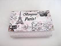 Peňaženky - Červánky v Paříži - peněženka i na karty - 4587126_