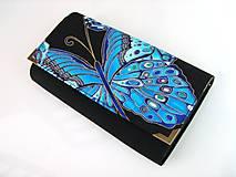 Peňaženky - Noční motýl II. - i na karty, 17 cm - 4587142_