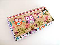 Peňaženky - Sovičky v lese - 17 cm, na spoustu karet - 4587148_