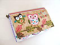 Peňaženky - Sovičky v lese - menší, i na karty  - 4587155_