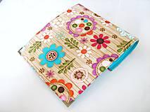 Peňaženky - Kytičky v lese - i na karty, 17 cm - 4587237_