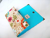 Peňaženky - Kytičky v lese - i na karty, 17 cm - 4587238_