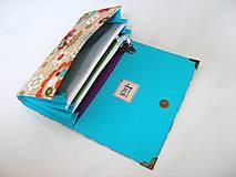 Peňaženky - Kytičky v lese - i na karty, 17 cm - 4587239_
