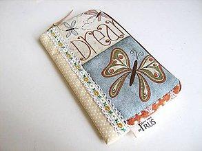 Na mobil - Motýlí snění I.- romantický obal na telefon - 4587026_