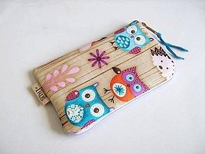 Na mobil - Sovičky v lese - obal na mobilní telefon - 4587049_