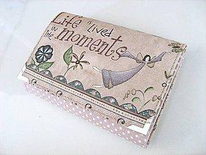 Peňaženky - Andělínka Fialková - peněženka menší i na karty - 4587377_