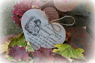 Tabuľky - Srdce s citátom - 4589876_