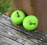 Náušnice - Zelené jabĺčka - napichovačky - 4589700_