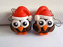 Náušnice - vianočné sovičky - 4590537_