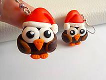 Náušnice - vianočné sovičky - 4590539_