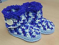 Topánočky - Melírové čižmičky - 4594916_