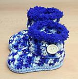 Topánočky - Melírové čižmičky - 4594917_