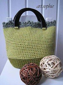 Kabelky - VÝPREDAJ...pure nature/Vlnená lipovo-olivová... - 4593026_