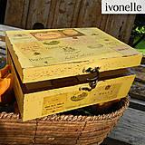 Krabičky - Pozvanie do Francúzska - škatuľka - 4591827_