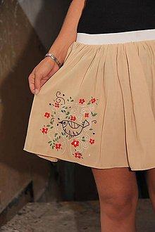 Sukne - Vyšívaná riasená sukňa - 4594939_